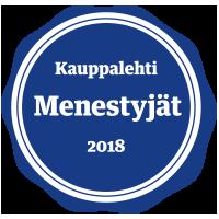 Kauppalehti menestyjät 2018 sertifikaatti